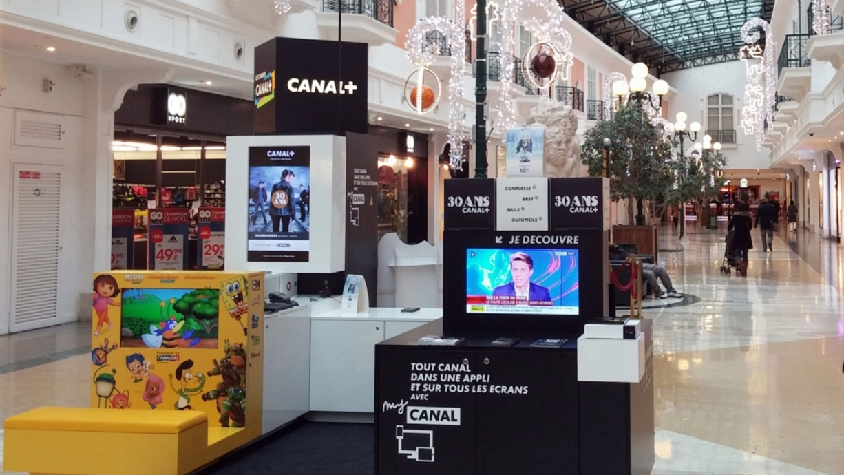 pop-up store, canal +
